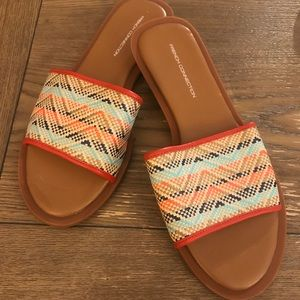 Brand new never worn French connection slides